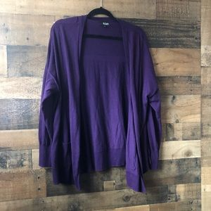 ANA Deep Purple Super Soft Open Front Cardigan